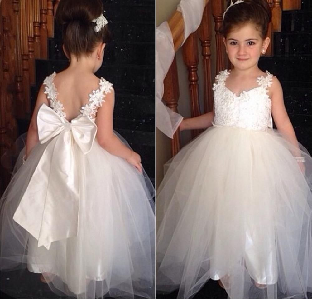 Kids Baby Flower Girl Princess Dress Pageant Wedding Bridesmaid Party Prom Gown